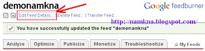 Cách đăng ký và sử dụng FeedBurner cho Blogspot  - by: http://namkna.blogspot.com/