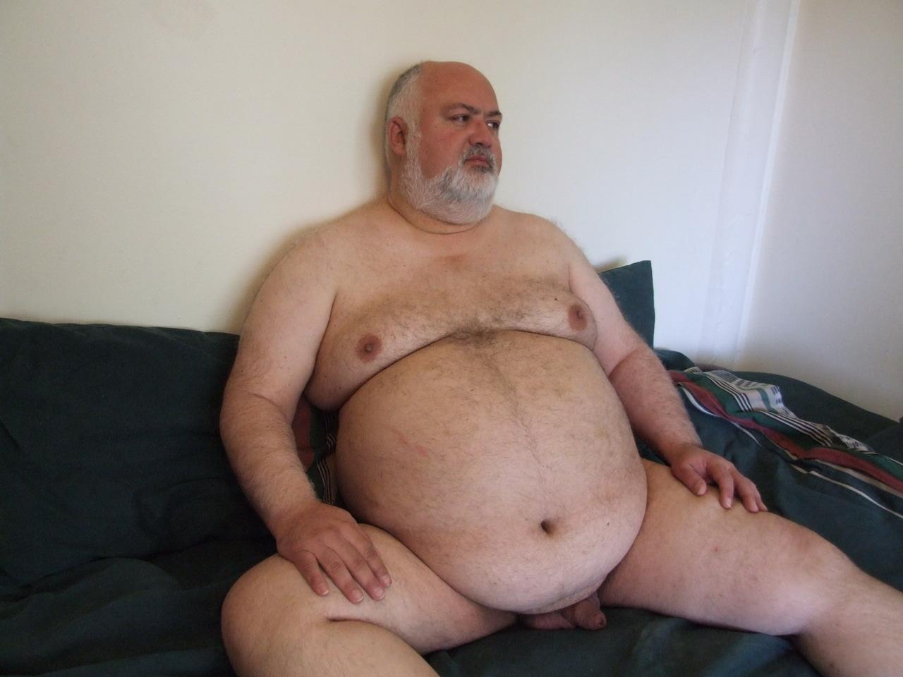 Naked Fat Hairy Man