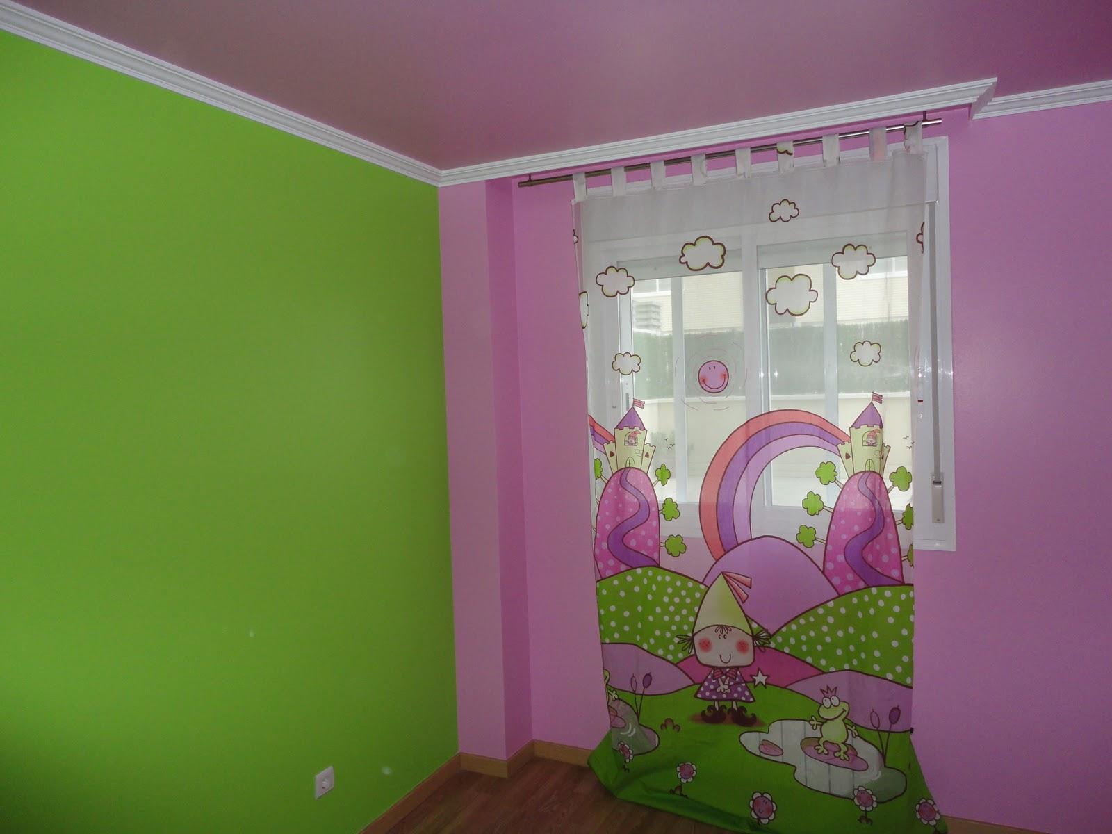 Pintura Habitacion Nios Great Habitacin Con Vinilos With Pintura  ~ Pintura Para Habitaciones Infantiles
