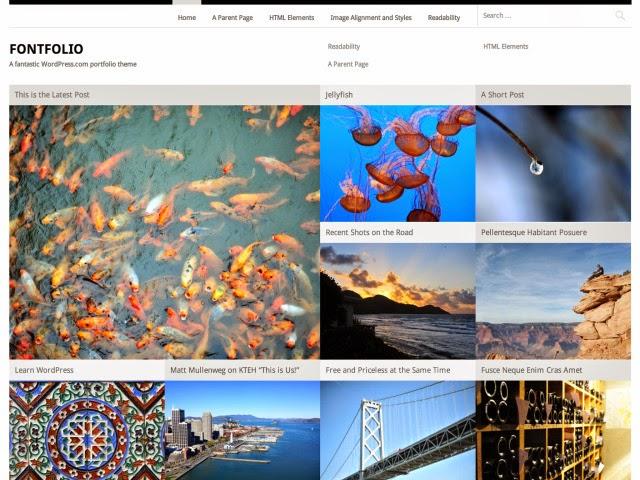 Fontfolio Free Portfolio WordPress theme