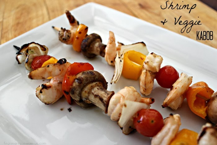 Melt in your mouth Shrimp and Veggie Kabobs!
