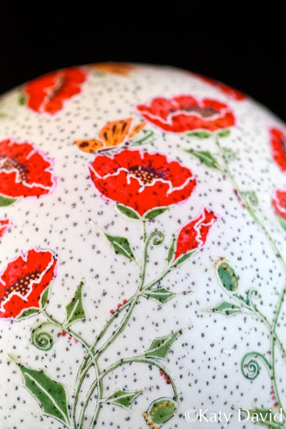 ©Katy David Friday Egg: Daytime Clockwork Poppies