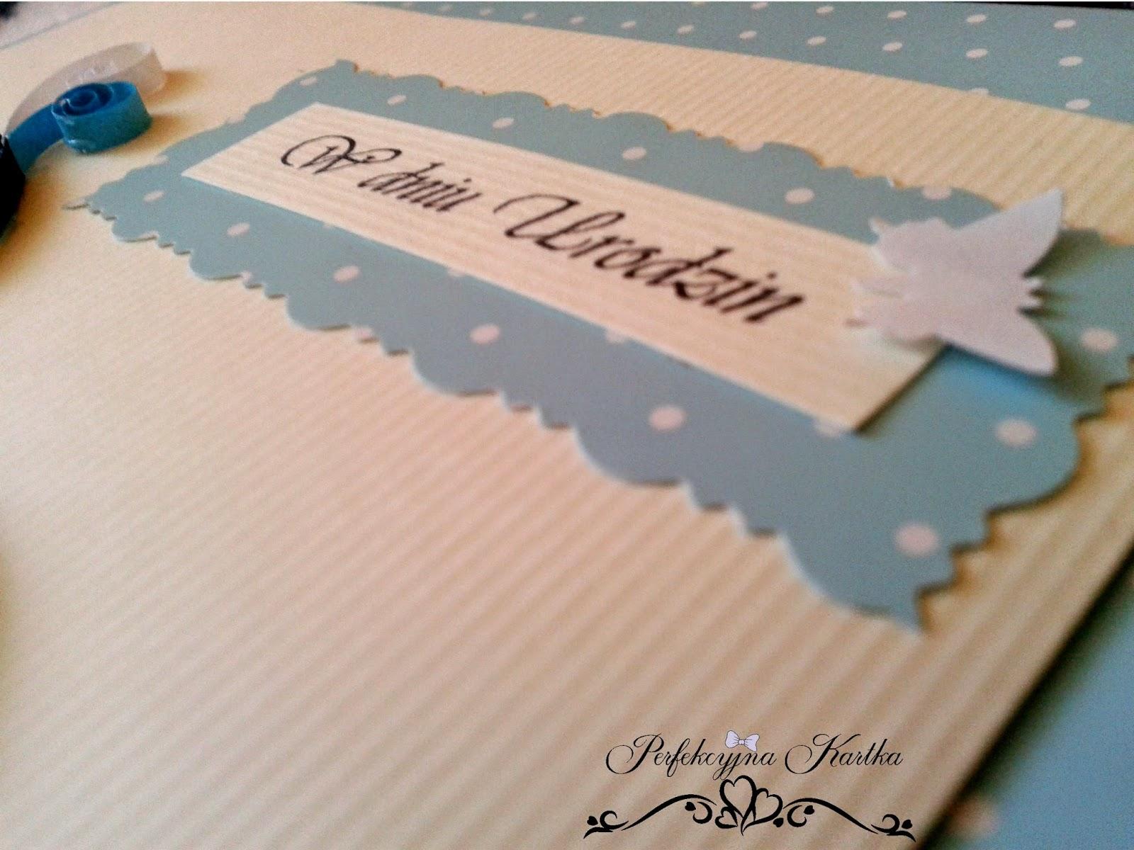 Kartka na 60 urodziny - quilling