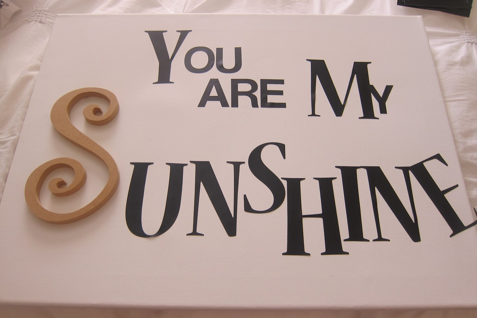 DIY you are my sunshine