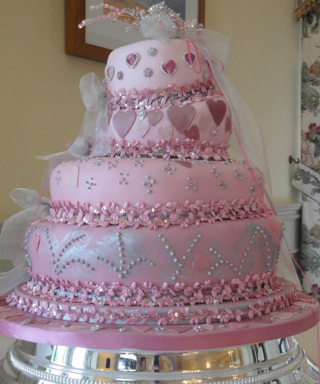 Cute Pink Wedding Cake Design Ideas Wedding Cake Designs