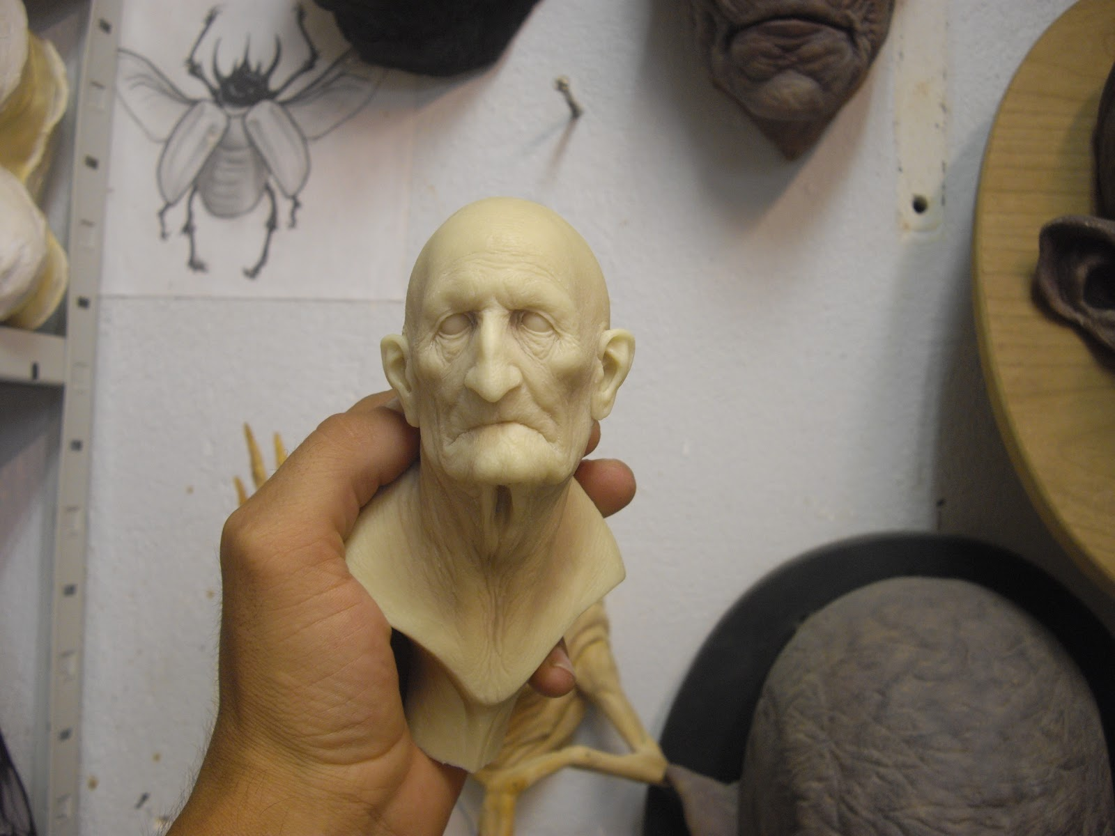 Aris Kolokontes art.: Old man resin cast  for Polyester Resin Sculpture  183qdu