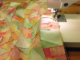 Machine piecing the Celtic Solstice Mystery Quilt