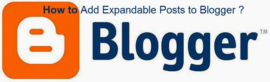 How to Add Expandable Posts to Blogger : eAskme
