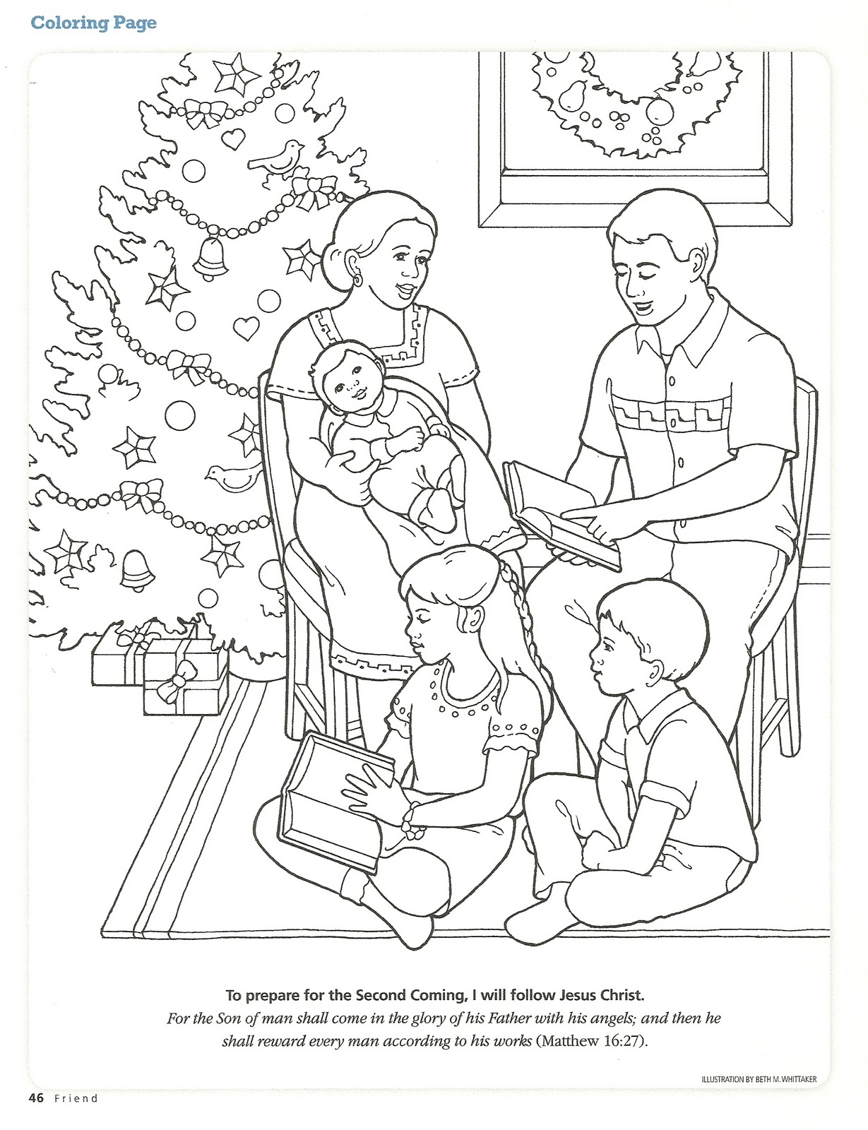 nativity finger puppets coloring
