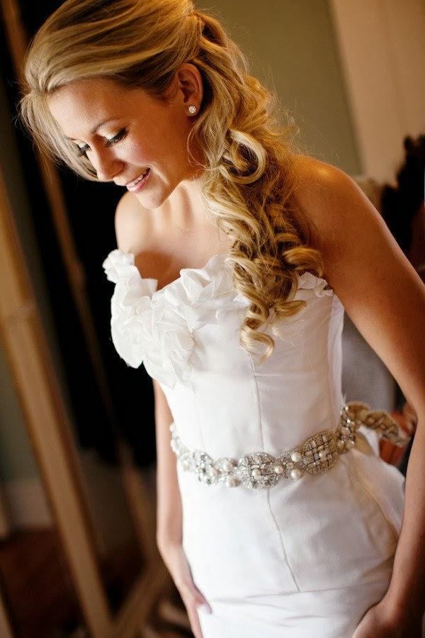 everthing girls side ponytail bridesmaid hairstyles