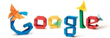 google logo origami
