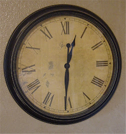 Black Distressed Clock (SOLD)