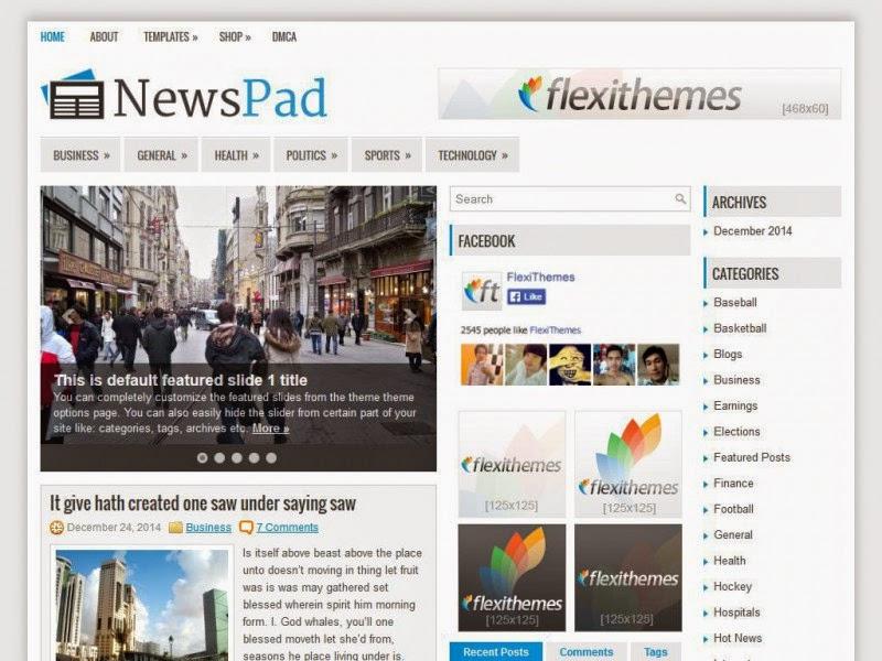 NewsPad - Free Wordpress Theme