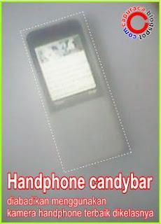 Internetan menggunakan handphone Candybar