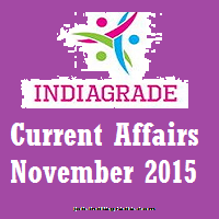 Current Affairs 3rd November 2015