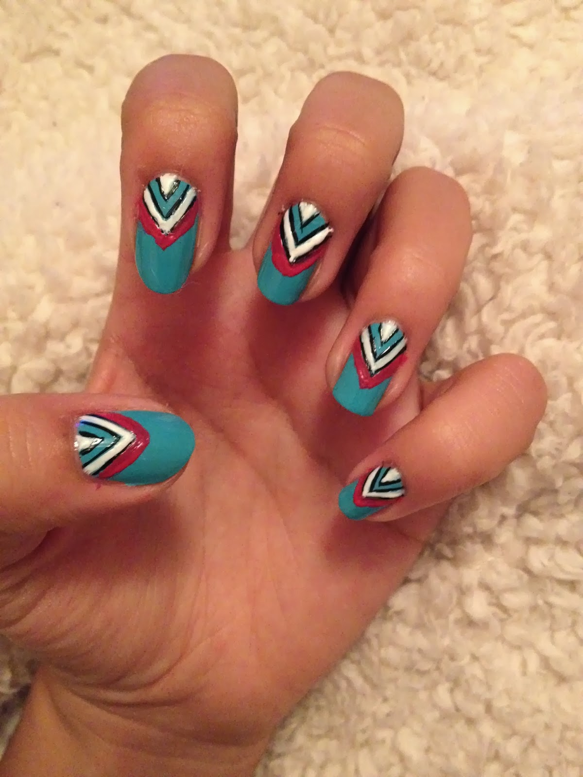 Charlie distracted nail art step 5 use the black nail art pen to draw symmetrical dots all up the pink line to finish prinsesfo Choice Image