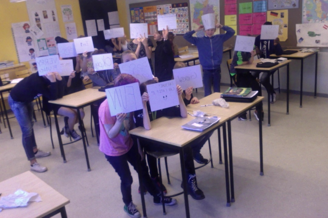 Mini-whiteboards in use
