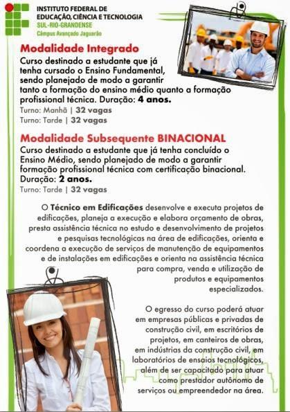 Vestibular 2015 IFSul Jaguarão
