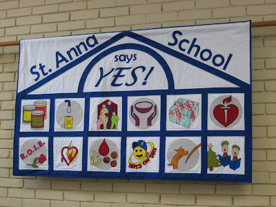 School Charity Banner ~ On Display!