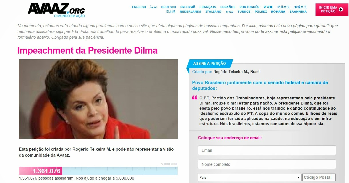 Impeachment de Dilma - Avaaz BR