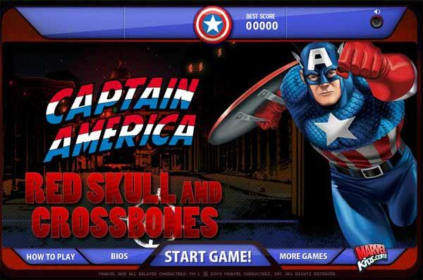 Jugar Juego CAPITAN AMERICA MOVIE GAME online