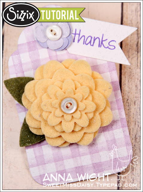 Sizzix Die Cutting Tutorial: Felt Flower Pin by Anna Wight