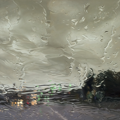 06-Above-Below-Gregory-Thielker-Oil-Paintings-In-The-Rain-Photo-realistic