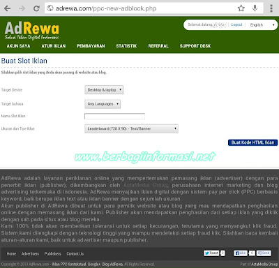 AdRewa, Solusi Alternatif Mendapatkan Uang dari Blog