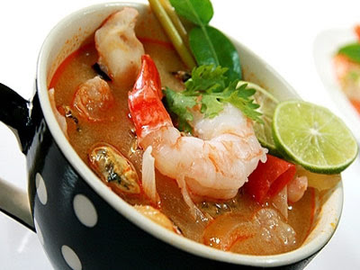... sour ... Tom Yam Goong ต้มยำกุ้ง (Spicy Shrimp Soup