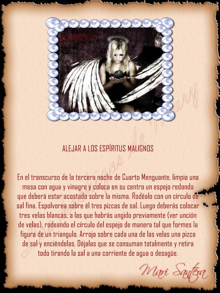 Alajar a los espíritus malignos