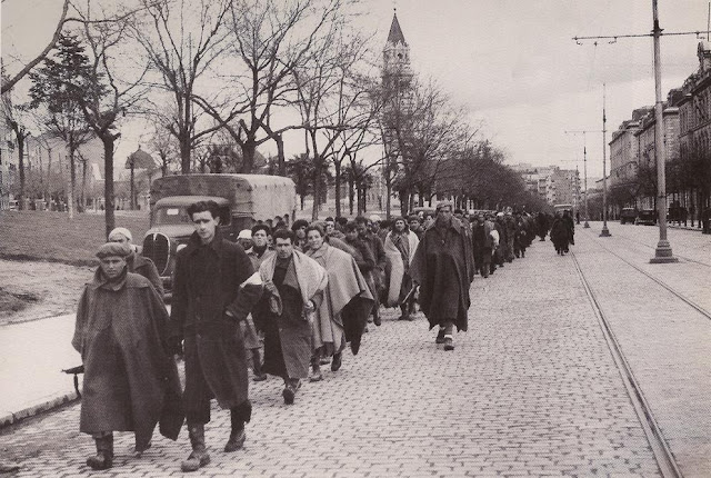Columna de prisioneros, Madrid 1939