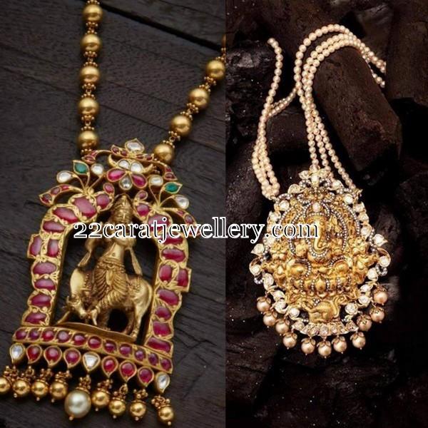 Lord krishna ganesh pendants jewellery designs lord krishna ganesh pendants aloadofball Gallery