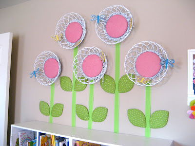 Basket Flower Wall Art Group
