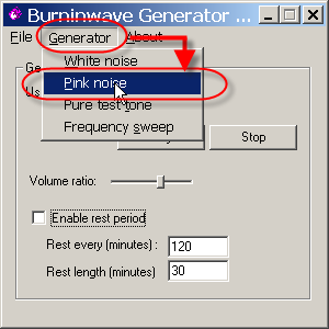 burn in wave generator