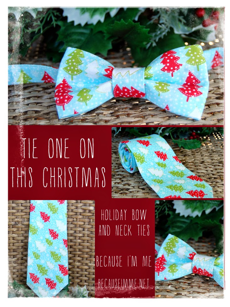 Because I'm Me Christmas tree cotton bow and neck ties for men and boys