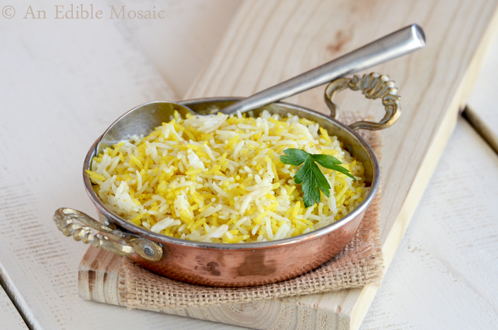 Saffron Rice with Golden Raisins and Pine Nuts (An Edible Mosaic Book ...