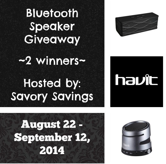 Havit Bluetooth Speaker Giveaway August 22 - September 22