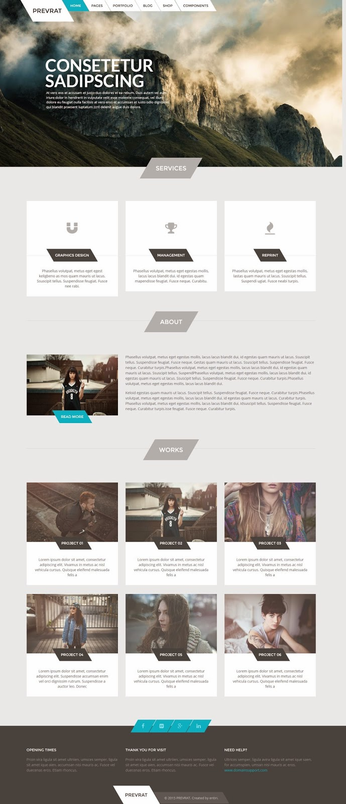 Example Best Creative Portfolio WP Theme 2015
