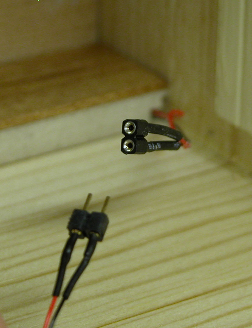 Led Wiring For Dollhouse Miniatures Supplies This Allows Me Length To Plug In The Lamp When Room Is Finally All Together And Yet Have Wires Remain Well Hidden Behind Right Side Of