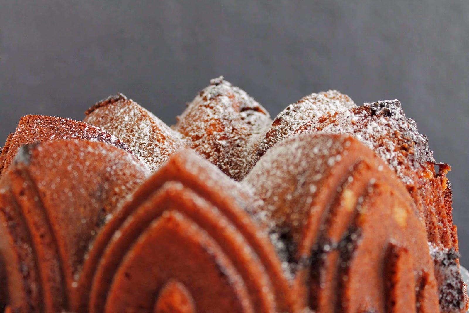 Receta Butter & Jam Bundt cake o Bundt cake de mantequilla y confitura de cerezas