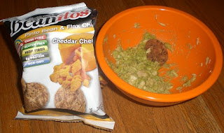 Tuna and Guacamole dip, with Beanitos and Wholly.