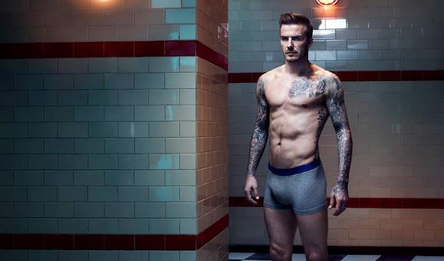 david beckham posa desnudo para la coleccion bodywear de H&M