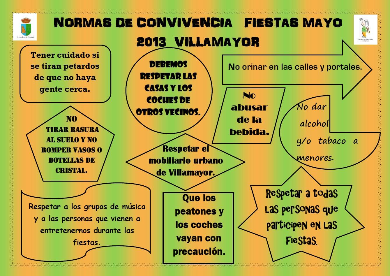 ... Niñas de Villamayor: Normas de Convivencia. Fiestas Mayo 2013