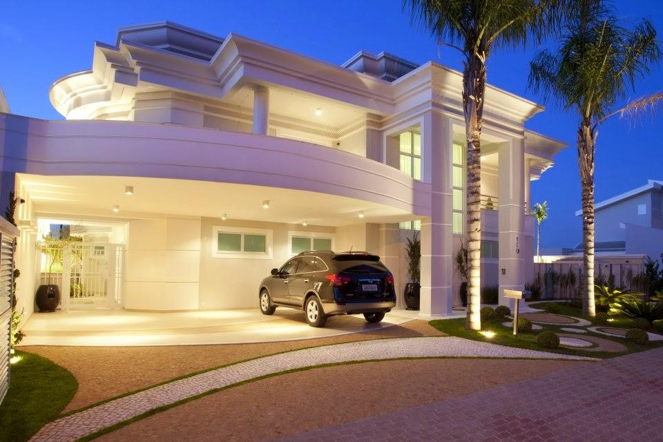 Fachadas de casas com cores claras off white super for Google banco exterior