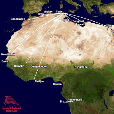 Tunisair Africa Routes