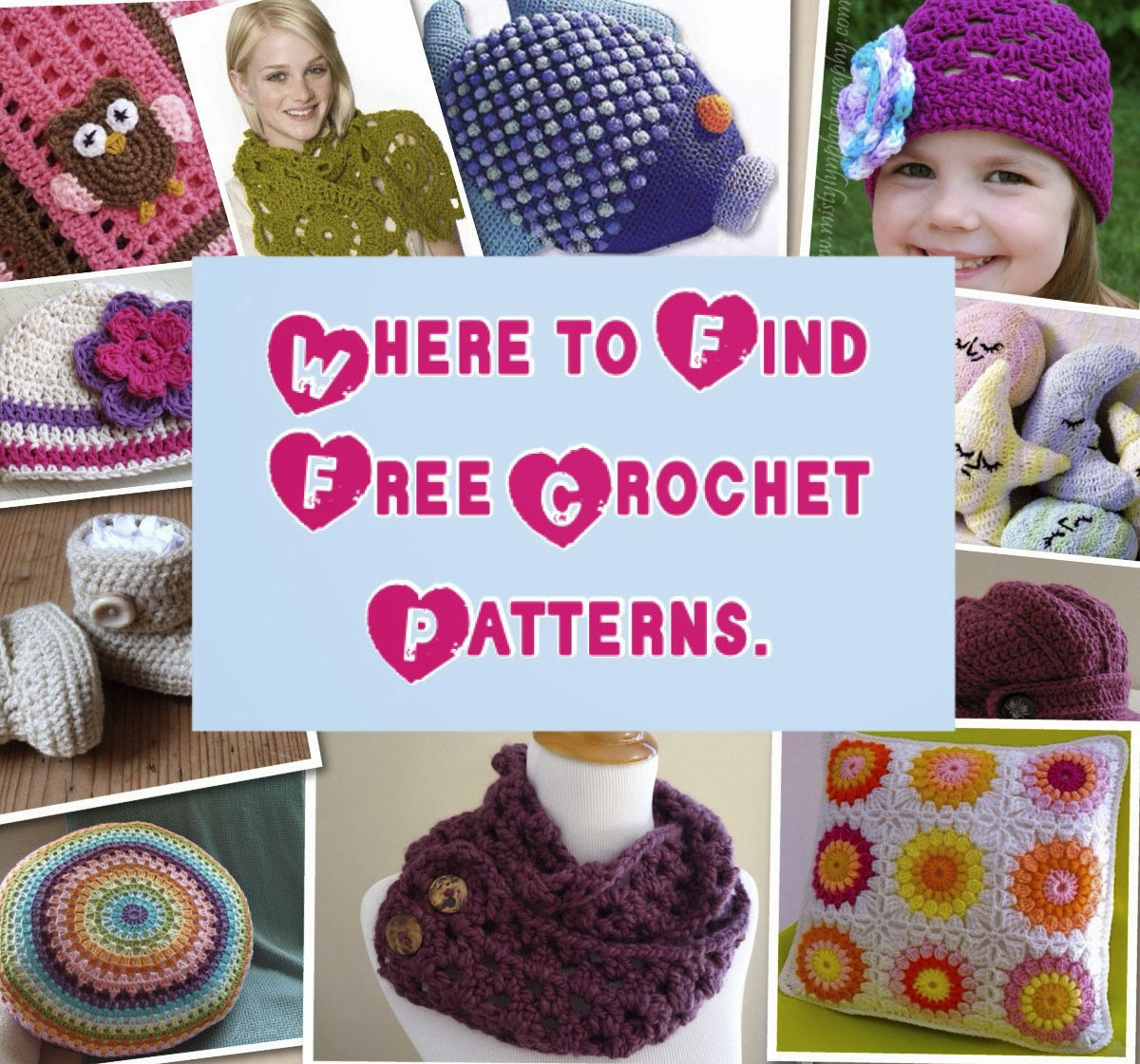 Crochet: Where to Find Free Crochet Patterns: Directory of websites ...