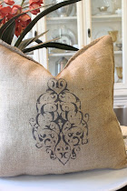 Burlap Pillow in Chocolate