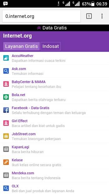Akses Internet Gratis Dari Indosat Internet.org