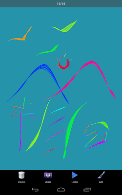 Kids Doodle - watching the painting in movie mode