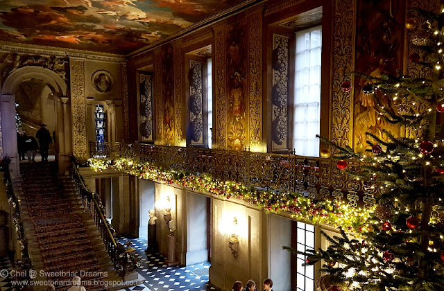 The stately home is full of treasures and incredible architecture, so to  see the top end of decorations and imagination was a marvel to cherish. - Sweetbriar Dreams: Christmas Decorations At Chatsworth House